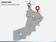Oman map PPT slide 6