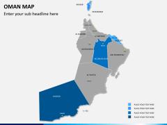 Oman map PPT slide 8