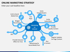 Online marketing strategy PPT slide 1