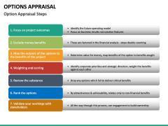 Options Appraisal PPT slide 11