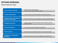 Options Appraisal PPT slide  5