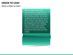 Order to Cash PPT slide 13