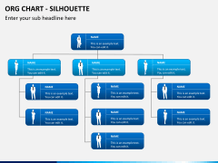 Org chart with Silhouette PPT slide 1