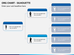Org chart with Silhouette PPT slide 2