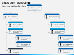 Org chart with Silhouette PPT slide 3