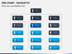 Org chart with Silhouette PPT slide 4