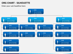 Org chart with Silhouette PPT slide 5