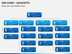 Org chart with Silhouette PPT slide 6