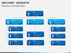 Org chart with Silhouette PPT slide 7