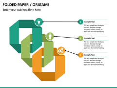 Origami style PPT slide 15