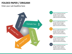 Origami style PPT slide 25