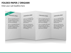 Origami style PPT slide 26
