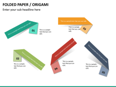 Origami style PPT slide 27