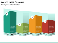 Origami style PPT slide 28