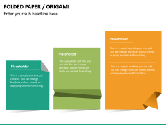 Origami style PPT slide 18