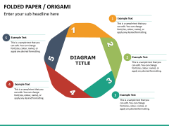 Origami style PPT slide 20
