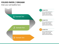 Origami style PPT slide 23