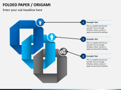 Origami style PPT slide 1