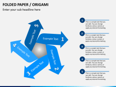 Origami style PPT slide 111
