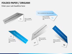 Origami style PPT slide 13