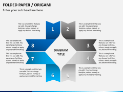 Origami style PPT slide 3