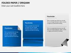 Origami style PPT slide 4