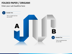 Origami style PPT slide 7