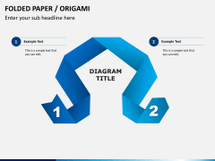 Origami style PPT slide 8