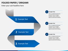 Origami style PPT slide 9