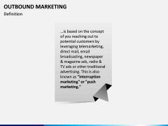 Outbound Marketing PPT slide 2