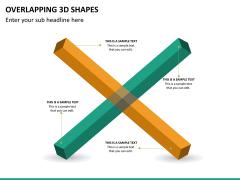Overlapping 3d shapes PPT slide 10