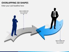 Overlapping 3d shapes PPT slide 2