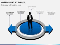 Overlapping 3d shapes PPT slide 3
