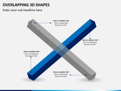 Overlapping 3d shapes PPT slide 5
