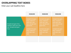 Overlapping text boxes PPT slide 8