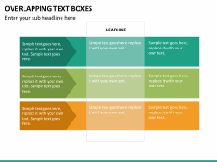Overlapping text boxes PPT slide 9