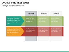 Overlapping text boxes PPT slide 11