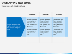 Overlapping text boxes PPT slide 1
