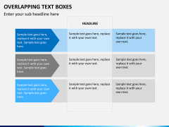 Overlapping text boxes PPT slide 2