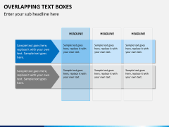 Overlapping text boxes PPT slide 4