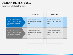 Overlapping text boxes PPT slide 5