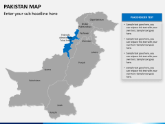 Pakistan map PPT slide 10