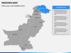 Pakistan map PPT slide 11