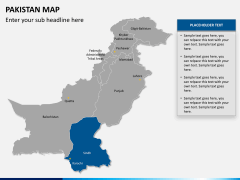 Pakistan map PPT slide 12