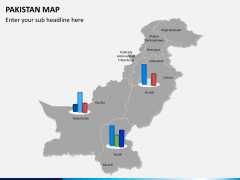 Pakistan map PPT slide 14
