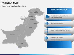 Pakistan map PPT slide 15