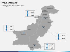 Pakistan map PPT slide 16