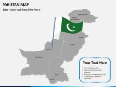 Pakistan map PPT slide 18