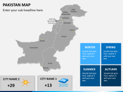 Pakistan map PPT slide 19