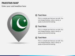 Pakistan map PPT slide 20